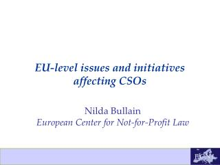 EU-level issues and initiatives  affecting CSOs
