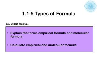 1.1.5 Types of Formula