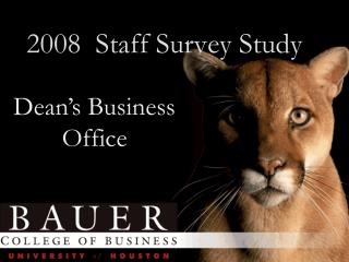 2008  Staff Survey Study