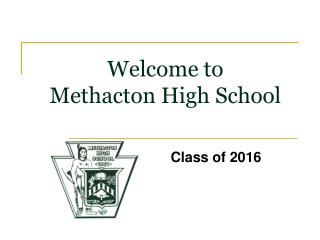 Welcome to  Methacton High School