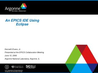 An EPICS IDE Using Eclipse