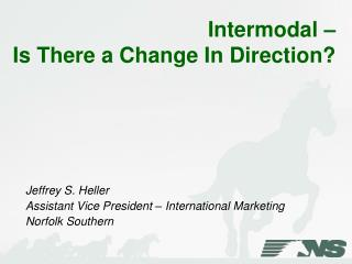 Intermodal –  Is There a Change In Direction?