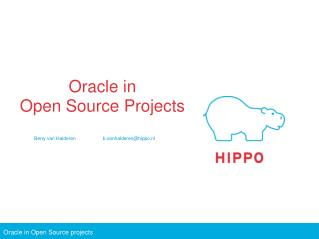 Oracle in Open Source Projects