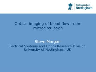 Optical imaging of blood flow in the microcirculation