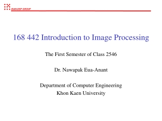 168 442 Introduction to Image Processing