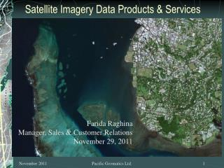 Satellite Imagery Data Products & Services