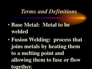 Fusion Welding