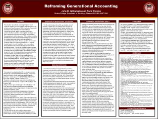 Reframing Generational Accounting