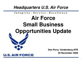 Air Force  Small Business Opportunities Update