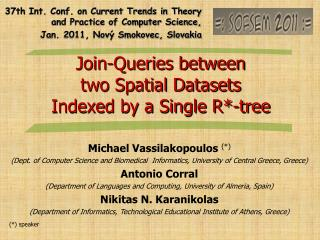 Join-Queries between  two Spatial Datasets Indexed by a Single R*-tree