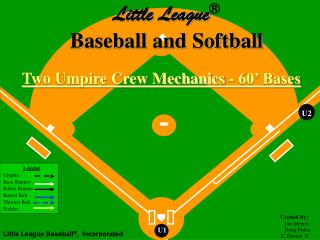 Two Umpire Crew Mechanics - 60' Bases