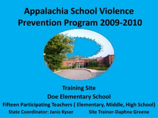Appalachia School Violence  Prevention Program 2009-2010