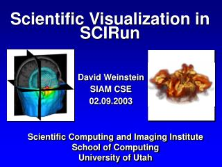 Scientific Visualization in SCIRun