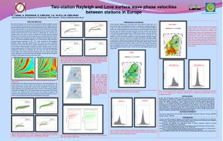 Two-station Rayleigh and Love surface wave phase velocities  between stations in Europe