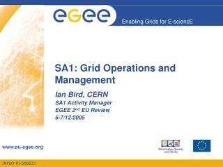SA1: Grid Operations and Management