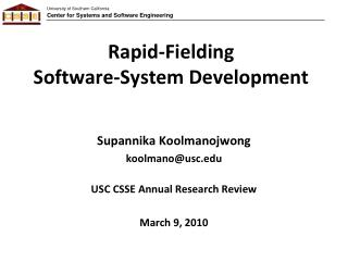 Rapid-Fielding Software-System Development