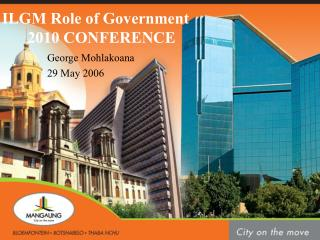 ILGM Role of Government  2010 CONFERENCE
