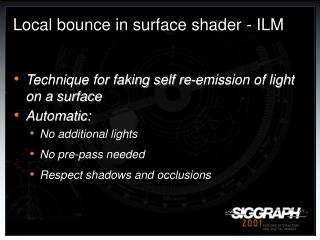 Local bounce in surface shader - ILM