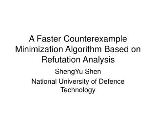 A Faster Counterexample Minimization Algorithm Based on Refutation Analysis