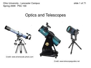 Optics and Telescopes