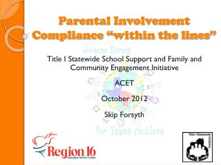 "Parental Involvement Compliance  "" within the lines """