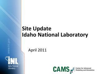 Site Update Idaho National Laboratory