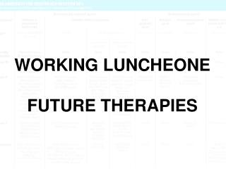 WORKING LUNCHEONE FUTURE THERAPIES