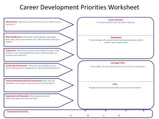 Career Development Priorities Worksheet