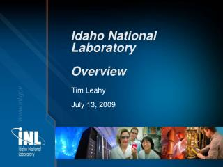 Idaho National Laboratory Overview