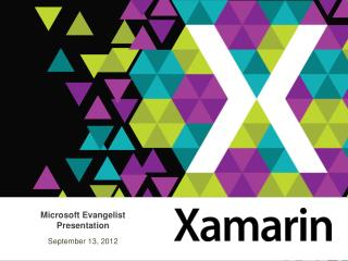 Microsoft Evangelist Presentation September 13, 2012
