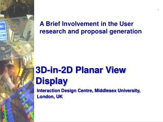 3D-in-2D Planar View Display