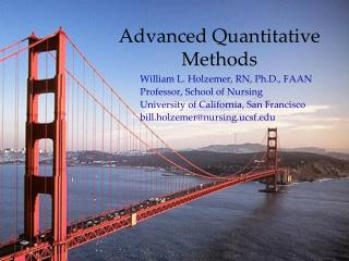 Advanced Quantitative Methods