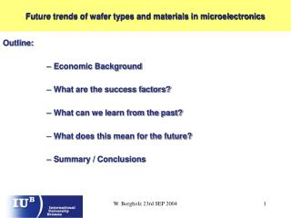 Future trends of wafer types and materials in microelectronics