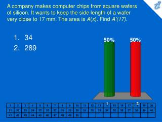 A company makes computer chips from square wafers of silicon. It wants to keep the side length of a wafer very close to