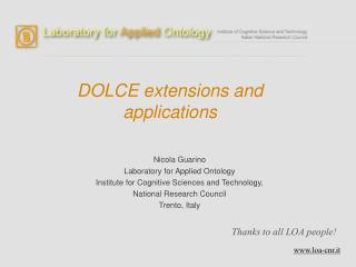 DOLCE extensions and applications