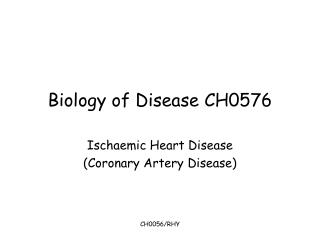 Biology of Disease CH0576
