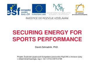 SECURING ENERGY FOR SPORTS PERFORMANCE