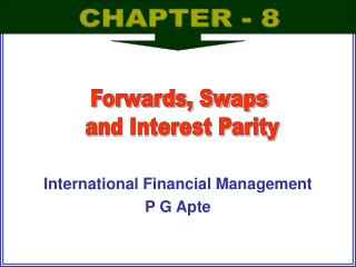 International Financial Management  P G Apte