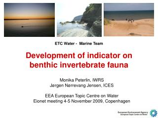 E TC Water  -  Marine Team Development of indicator on benthic invertebrate fauna