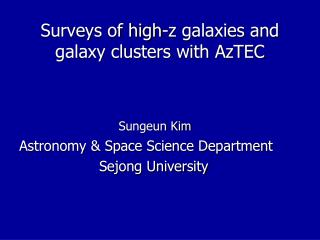 Surveys of high-z galaxies and galaxy clusters with AzTEC