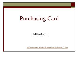 Purchasing Card