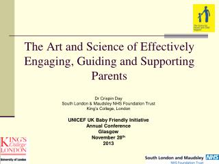 The Art and Science of Effectively Engaging, Guiding and Supporting Parents