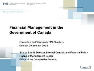 Financial Management in the Government of Canada