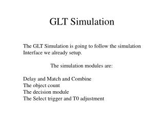 GLT Simulation