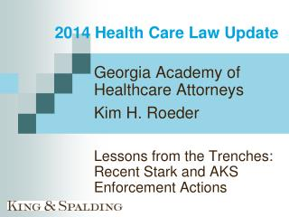 2014 Health Care Law Update