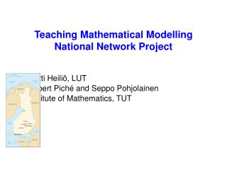 Teaching Mathematical Modelling National Network Project