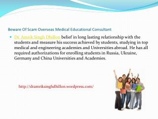 Beware Of Scam Overseas Medical Educational Consultants