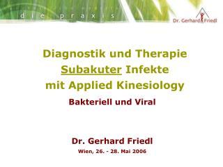 Diagnostik und Therapie  Subakuter  Infekte  mit Applied Kinesiology