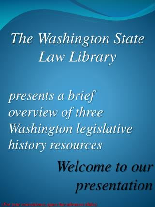 The Washington State Law Library