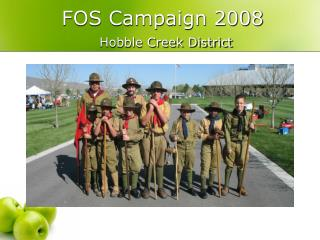 FOS Campaign 2008 Hobble Creek District